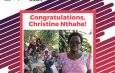 Madame Christine NTAHE honorée par la Croix-Rouge…